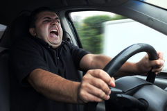 Man gets in accident. While driving car without seat belts Royalty Free Stock Images