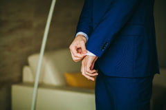 Man getting dressed Royalty Free Stock Photo