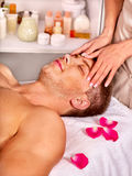 Man getting  facial massage Royalty Free Stock Photo