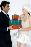 Man Getting Gifts Stock Images