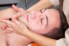 Man getting massage Stock Photo