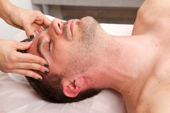 Man getting massage Stock Photography