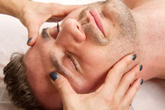 Man getting massage Royalty Free Stock Photography