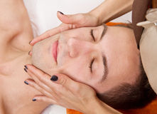 Man getting massage in thebeauty center Royalty Free Stock Photos