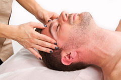 Man getting massage in thebeauty center Stock Photo