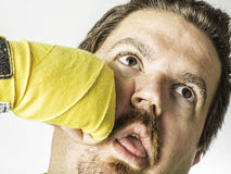 Man Getting Punched Royalty Free Stock Image