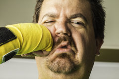 Man Getting Punched Stock Image