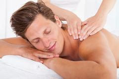 Man Getting Spa Treatment Stock Photos
