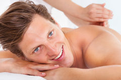 Man Getting Spa Treatment Stock Image