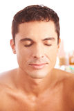 Man getting treatment in beauty clinic Royalty Free Stock Photo
