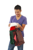 Man gettingin the Christmas Spirit Stock Photography