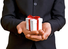 A man with a gift Royalty Free Stock Image