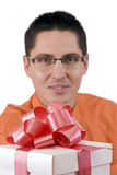 Man with gift Royalty Free Stock Photo