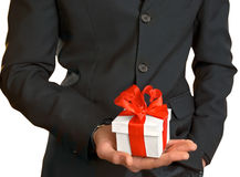A man with a gift Royalty Free Stock Images