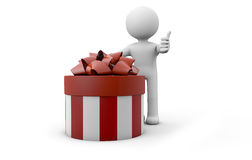 Man with a gift Royalty Free Stock Photography
