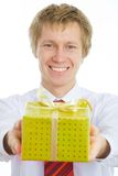 A man with a gift Stock Photo
