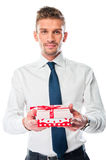 Man with a gift Royalty Free Stock Image