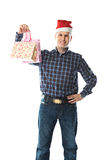 Man with a gift Royalty Free Stock Photo