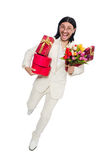 Man with giftbox Royalty Free Stock Photo