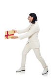 Man with giftbox Stock Photography