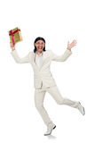 Man with giftbox Royalty Free Stock Photography
