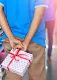 Man with giftbox Stock Photo