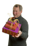 Man with gifts Stock Photo