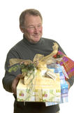 Man with gifts Stock Images