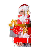 Man with a gifts Royalty Free Stock Photography