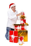 Man with a gifts Royalty Free Stock Images