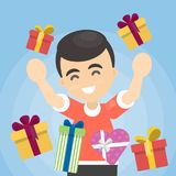 Man with gifts. Stock Images