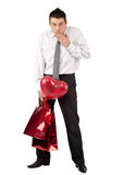 Man with gifts for Valentine's Day Royalty Free Stock Photo