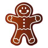 Man gingerbread icon, cartoon style. Man gingerbread icon. Cartoon illustration of man gingerbread vector icon for web vector illustration