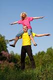 Man and girl Royalty Free Stock Photos