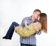 Man is a girl in his arms Stock Photo