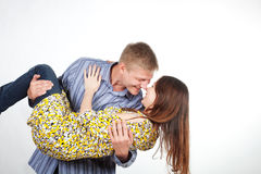 Man is a girl in his arms Royalty Free Stock Photo