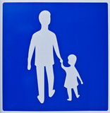 Man and girl silhouette Stock Photography