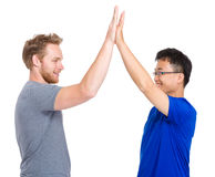 Man give high five for each other Stock Photography