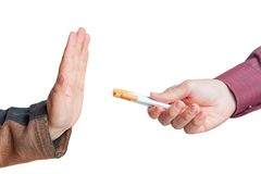Man give up cigarettes Royalty Free Stock Image