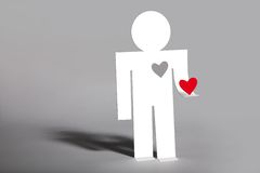 Free Man Gives Her A Loving Heart Royalty Free Stock Photography - 12708087