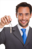 Man gives keys Royalty Free Stock Photography