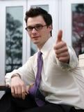 Man gives thumbs up Stock Image