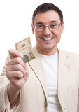 Man gives a tip Royalty Free Stock Photography