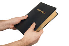 Man giving a Bible Stock Images