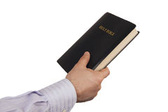 Man giving a Bible Royalty Free Stock Photo