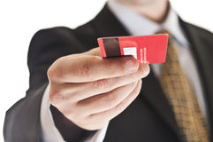 Man giving credit card Royalty Free Stock Photography