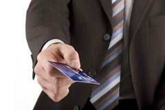 Man giving credit card Stock Photography