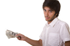 Man giving dollars Stock Photography