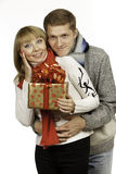 Man giving a gift to woman Stock Photography