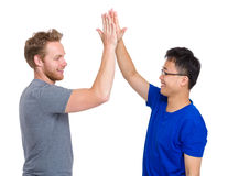 Man giving high five Royalty Free Stock Image